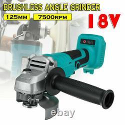 18v Outil Sans Fil Combo Cordless Impact Wrench Angle Grinder For Bl1830 &abv Bat