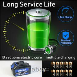 2 X Batteries 1/2 Drive Cordless Impact Wrench 4 Sockets 21v 6.0ah Li-ion +case