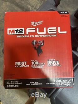 Brand New Milwaukee 2552-20 M12 Fuel 12v Stubby 1/4 Clé À Chocs (sans Outil Uniquement)