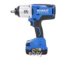 Clé D'impact Sans Fil 24 Volts Kobalt Max 1/2-in Drive Brushless (1 Batterie)