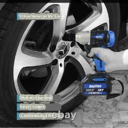 Cordless Brushless Impact Wrench Driver 1/2 Pouce & 4 Douilles & 12ah LI Batterie