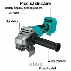 Cordless Tool Combo 18v Cordless Impact Wrench Angle Grinder 3.0ah Pour Makita Uk