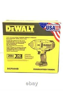 Dewalt 20v Max Li-ion 1/2 In. Detent Pin Impact Wrench Dcf899b Nouveau (bt)