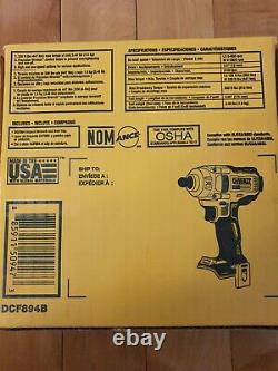 Dewalt Dcf894 20v Max Xr Lithium-ion Brushless 1/2 In. Impact Wrench Nouveau