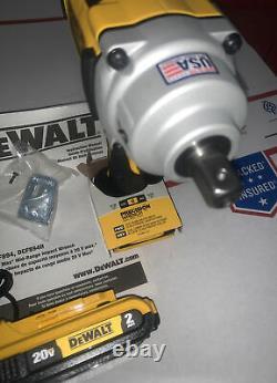 Dewalt Dcf894b 1/2 Kit De Clé D'impact De Moyenne Portée Detent Pin + 2.0 Chargeur Nouveau