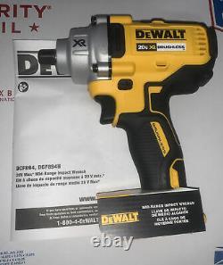 Dewalt Dcf894b 20v Max Xr 1/2 Po. Clé D'impact Sans Fil De Milieu De Gamme Nouvelle