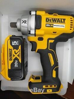 Dewalt Dcf894b 20v Max Xr Brushless Milieu De Gamme 1/2 Clé À Chocs Et 5,0 Batterie