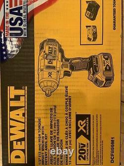 Dewalt Dcf899m1 20v Max Xr Li-ion 1/2 Impact Wrench Avec Detent Pin Anvil New