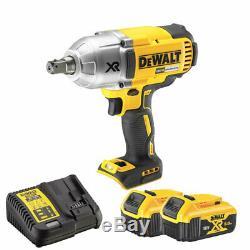Dewalt Dcf899n 18v Brushless Sans Fil Clé À Chocs Avec 2 X 5 Ah Batterie & Chargeur