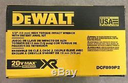 Dewalt Dcf899p2 Kit Clé Dynamométrique Sans Balai 1/2 À Percussion 20v Max Xr, 2 Piles