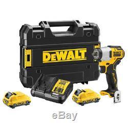 Dewalt Dcf902d2 12v Brushless 3/8 Clé À Chocs 2 Piles 2ah Chargeur Case