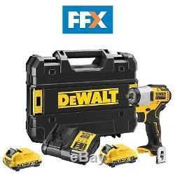 Dewalt Dcf902d2-gb 12v 2 X 2ah Xr Brushless Sub Compact 3/8 Po Clé À Chocs