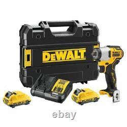 Dewalt Dcf902d2-gb 12v Xr 3/8 Cordless Impact Wrench Kit 2 X 2.0ah Batteries
