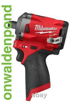 M12 Fuel Stubby 1/2 Impact Wrench Milwaukee 2555-20 Brushless Cordless Tool Nouveau