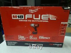 M18 Fuel 18-v Brushless Sans Fil 1/2 Po. Clé À Chocs 1 Batterie 1 Chargeur 1 Sac