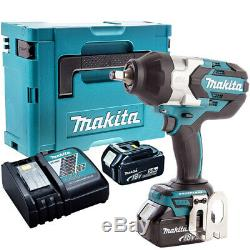 Makita Dtw1002z 18v Brushless Clé À Chocs + 2 X Batteries 5.0ah Chargeur & Case
