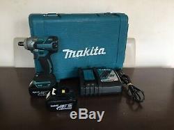 Makita Impact Wrench Dtw285 18v Brushless Avec 2 Piles, Chargeur Et Étui