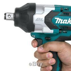 Makita Xwt07z 18-volt 3/4 Pouces Lxt Lit-ion Sans Fil Clé À Chocs Bare Outil