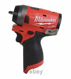 Milwaukee 2552-20 12v Li-ion Brushless Cordless Stubby 1/4 Po. Clé D'impact