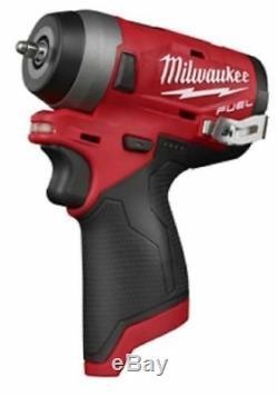 Milwaukee 2552-20 M12 Fuel 1/4 Sans Fil Stubby Clé À Chocs (nu Outil Uniquement)