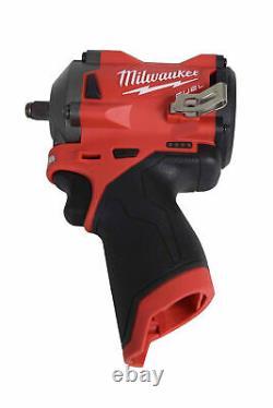 Milwaukee 2554-20 12v Li-ion Brushless Cordless Stubby 3/8 Po. Clé D'impact