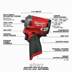 Milwaukee 2554-20 M12 3/8 Drive Fuel Stubby Impact Wrench Bare Tool