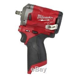 Milwaukee 2554-20 M12 Fuel Compact Stubby 3/8 Clé À Chocs Nu Outil