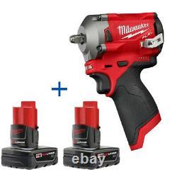 Milwaukee 2554-20 M12 Fuel Stubby 3/8 Clé D'impact 48-11-2412 M12 XC Batterie 2