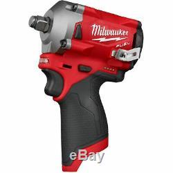 Milwaukee 2555-20 M12 Fuel Stubby 1/2 Clé À Chocs Combo Kit Nouveau Livraison Gratuite