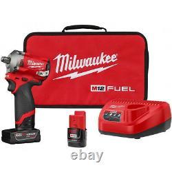 Milwaukee 2555-22 M12 Fuel Stubby Cordless 1/2 Drive Gun Clé D'impact