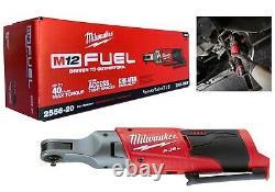 Milwaukee 2556-20 M12 Fuel Li-ion 1/4 Ratchet (outil Uniquement) Nouveau Livraison Gratuite
