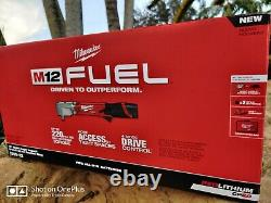 Milwaukee 2565-22 M12 Fuel 1/2 Right Angle Impact Wrench Kit With (2) Batteries