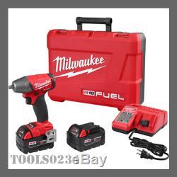 Milwaukee 2754-22 M18 Fuel 3/8 Clé À Chocs Compacte Kit Withfriction Kit Anneau