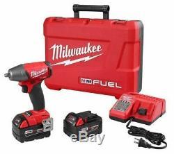 Milwaukee 2754-22 M18 Fuel 3/8 Clé À Chocs De Friction Anneau Kit 5.0 Piles