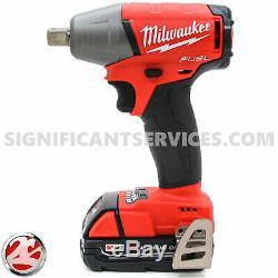 Milwaukee 2755-20 M18 Fuel 1/2 Compact Detent Pin Clé À Chocs 2.0 Ah Batterie
