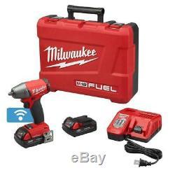 Milwaukee 2758-22ct M18 One-key 3/8 Impact De Withfriction Kit Bague (2) 2ah Batts