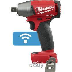 Milwaukee 2759-20 M18 Fuel 18v 1/2 Clé À Chocs Compacte Kit Avec Clip Et Une Clé