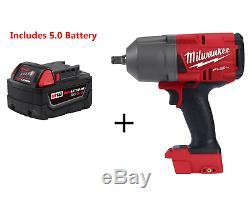 Milwaukee 2767-20 M18 Fuel Couple Élevé ½ Clé À Chocs Et 5,0 Batterie
