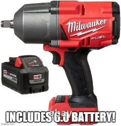 Milwaukee 2767-20 M18 Fuel High Torque 1/2 Impact Wrench & 6.0ah Batterie