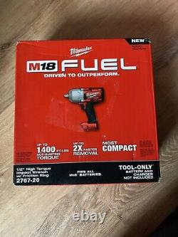 Milwaukee 2767-20 M18 Fuel High Torque 1/2 Impact Wrench With Friction Ring Nouveau
