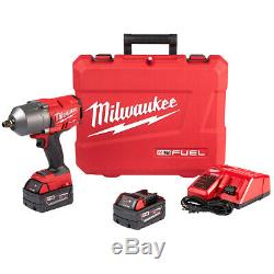 Milwaukee 2767-22 18 Volt 1/2-inch M18 Friction Bague D'impact Kit Clé