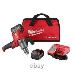 Milwaukee 2810-22 M18 Kit Mélangeur De Boue De Carburant Poignée À 180 Degrés (2) 5.0 Batterie Neuve