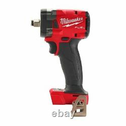 Milwaukee 2855-20 M18 Fuel 1/2 Compact Impact Wrench With Friction Ring Tool Only