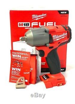 Milwaukee 2860-20 M18 Fuel Mi-couple 1/2 Pin Detent Clé À Chocs Nu Outil