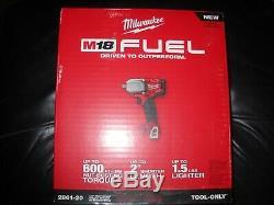 Milwaukee 2861-20 M18 Fuel 1/2 Impact À Mi-clé Dynamométrique Avec Friction Anneau Nouveau