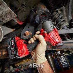 Milwaukee 2861-22 M18 Fuel Mi-couple 1/2 Bague De Friction Clé À Chocs Tool Kit