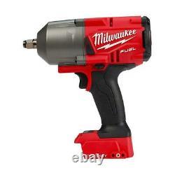 Milwaukee 2863-20 -21 M18 Fuel High Torque 1/2 Impact Avec Une Clé Et Une Batterie