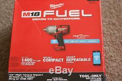 Milwaukee 2863-20 M18 Fuel Avec One-key Clé À Chocs Couple Élevé 1/2 F. Anneau