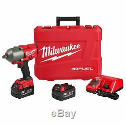 Milwaukee 2863-22 M18 Fuel Une Clé À Couple Élevé 1/2 Impact Kit Clé D'entraînement