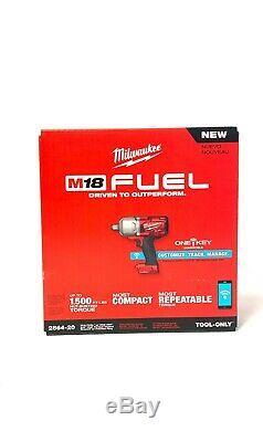 Milwaukee 2864-20 M18 Fuel Clé À Chocs (outil Uniquement) Nouveau